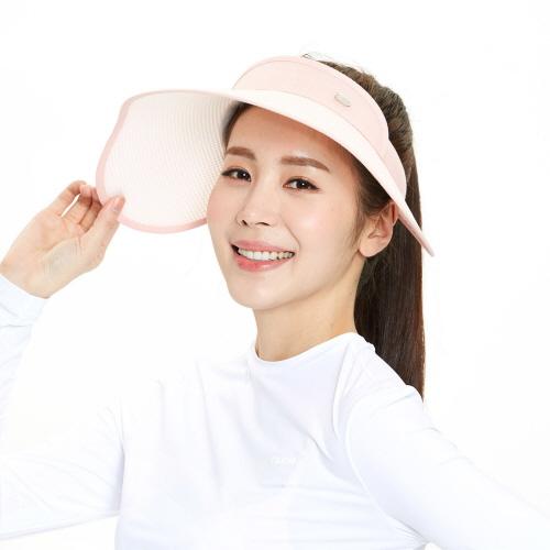 여성 유브이 썬캡 핑크