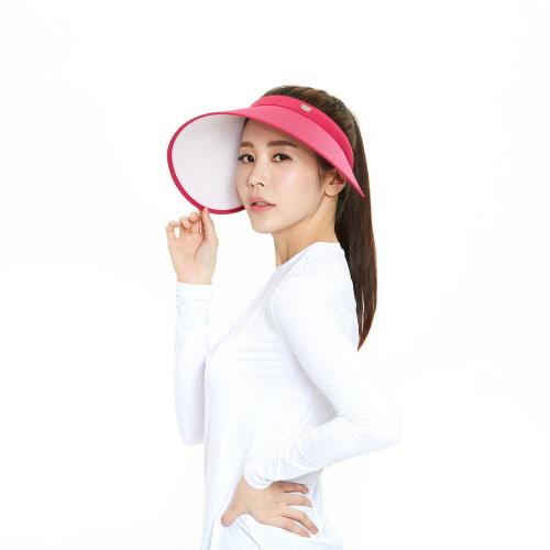 여성 유브이 썬캡2 핑크