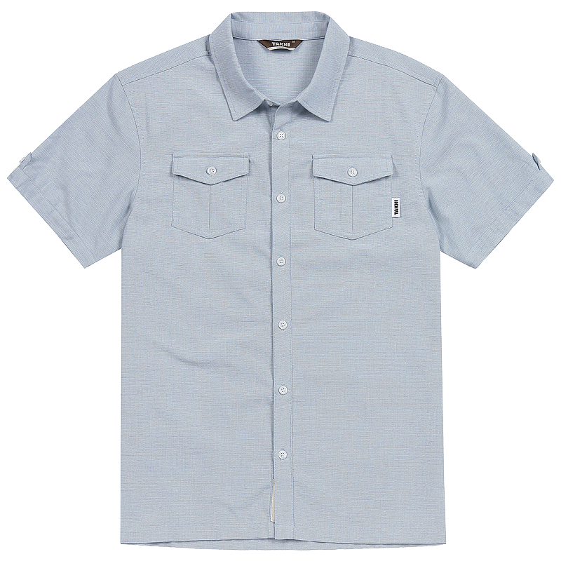 남성 트로픽 반팔 셔츠 아이스블루