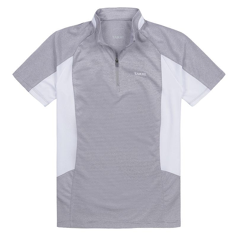 여성 포레스트 반팔 짚 티셔츠 그레이