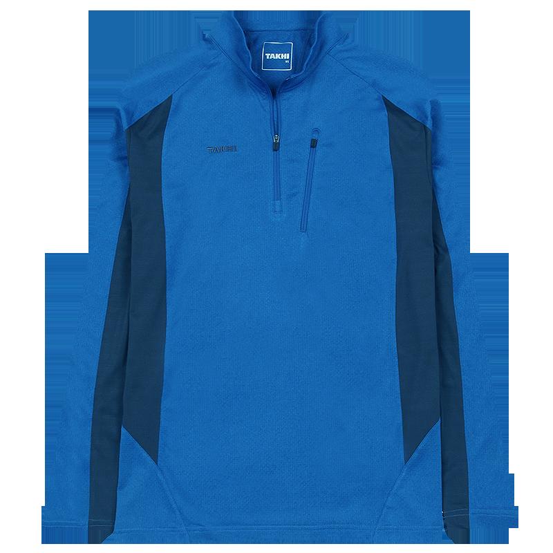 남성 포레스트 긴팔 짚 티셔츠 블루