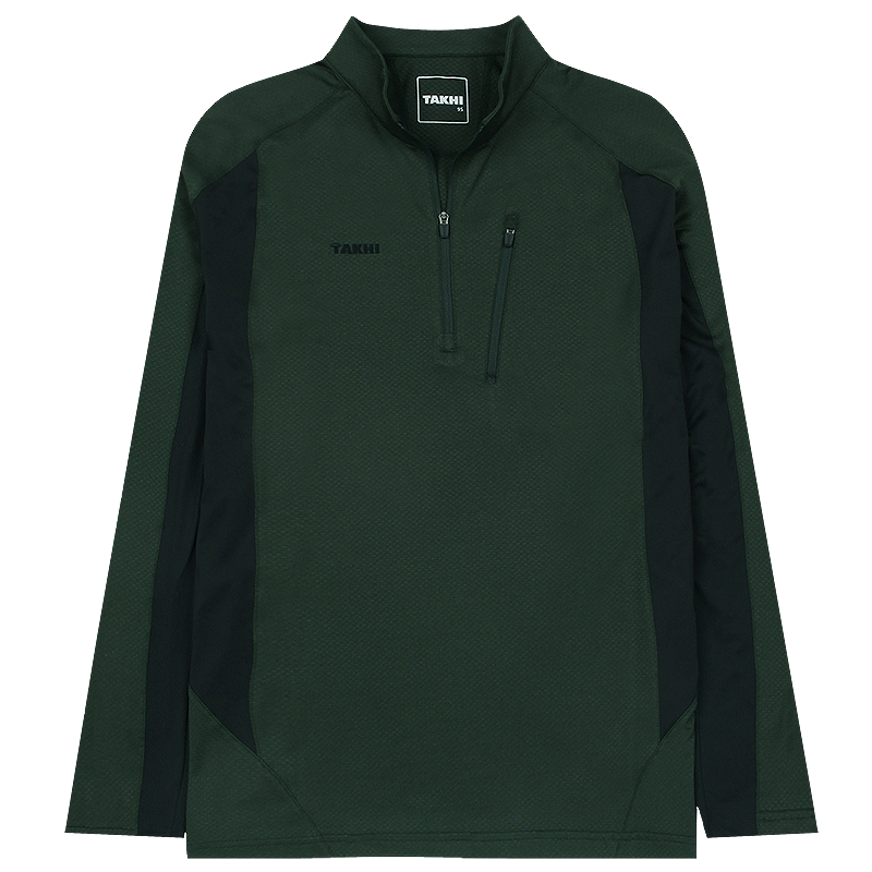 남성 포레스트 긴팔 짚 티셔츠 다크카키