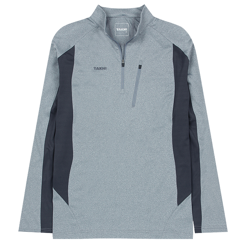 남성 포레스트 긴팔 짚 티셔츠 라이트그레이