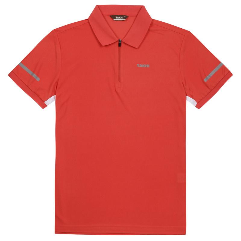남성 브리즈 짚 폴로 티셔츠 오렌지