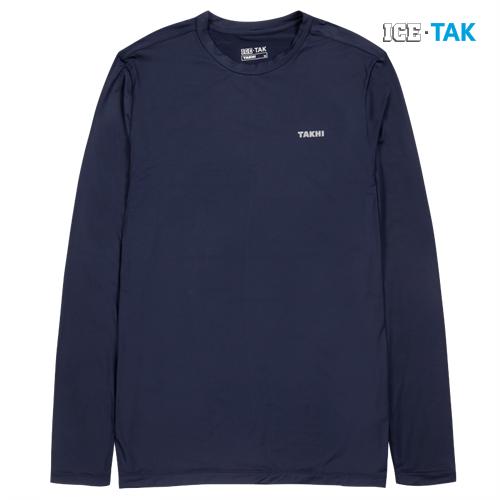 남성 콜드 스킨 UV 티셔츠 네이비