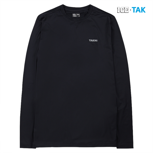 남성 콜드 스킨 UV 티셔츠 블랙