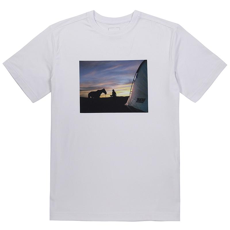 유니 포토 라운드 티셔츠 화이트