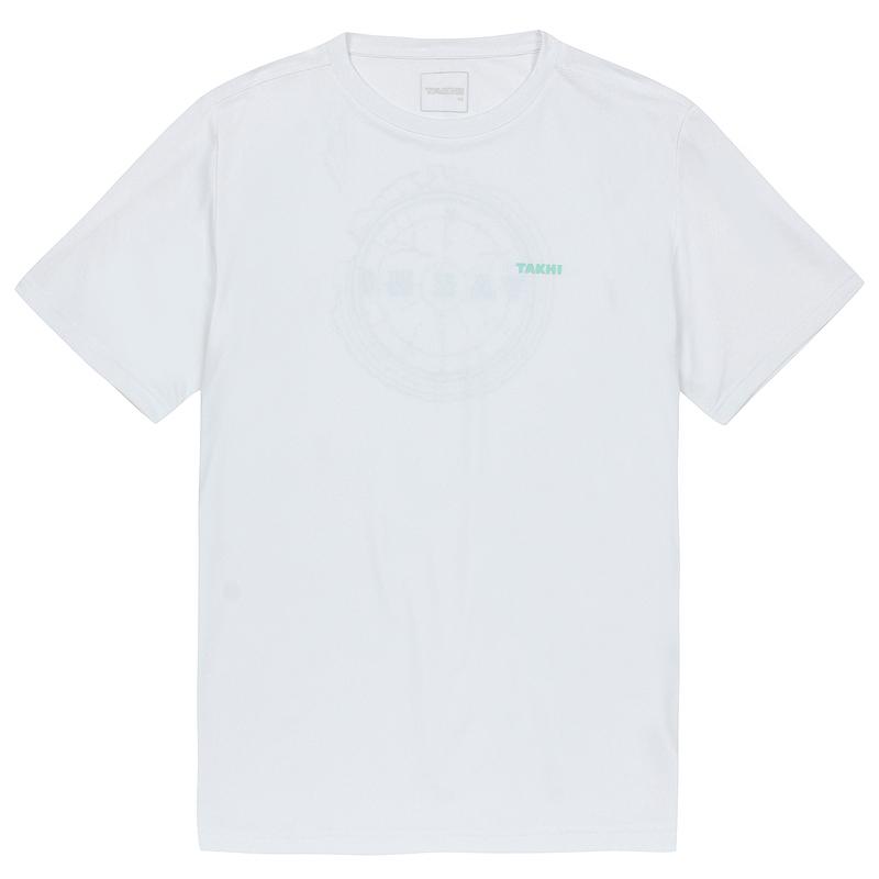 남성 컴패스 라운드 티셔츠 화이트