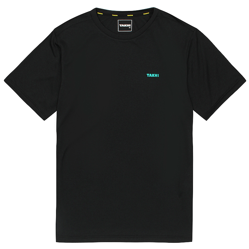 남성 컴패스 라운드 티셔츠 블랙
