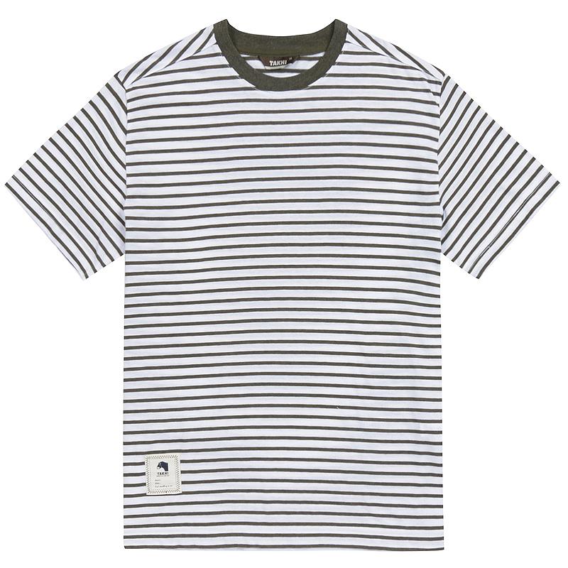 남성 마린 포인트 티셔츠 카키