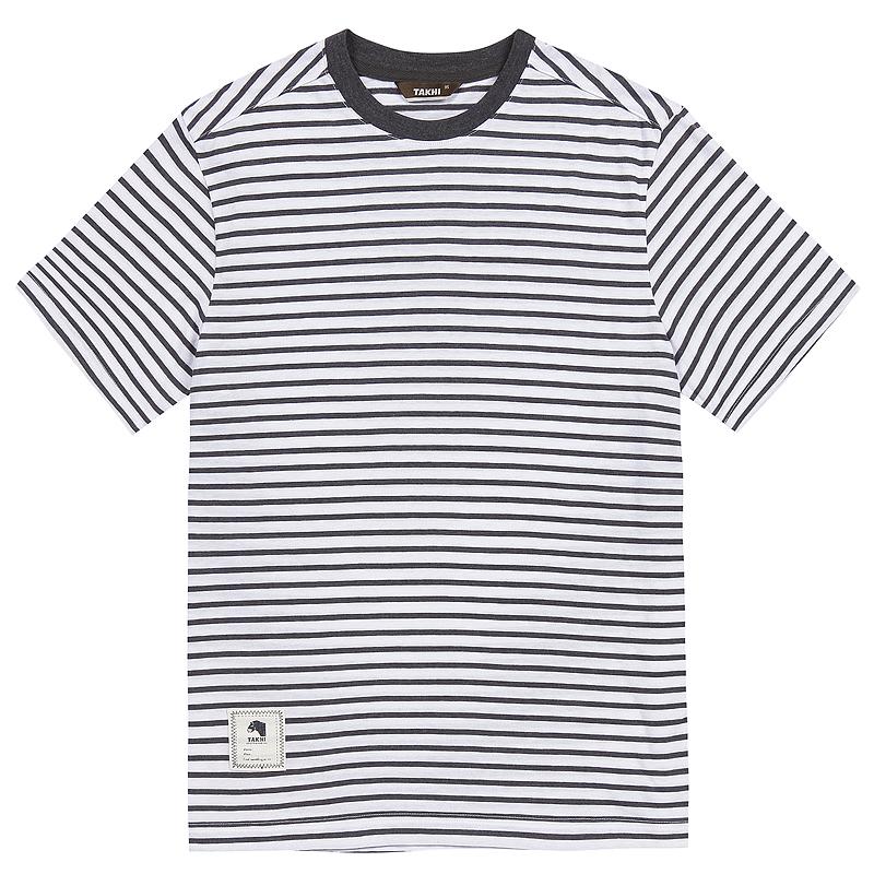 남성 마린 포인트 티셔츠 차콜