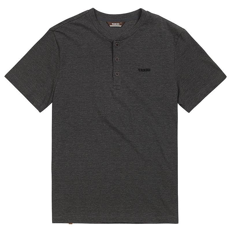 남성 크루 라운드 티셔츠 블랙