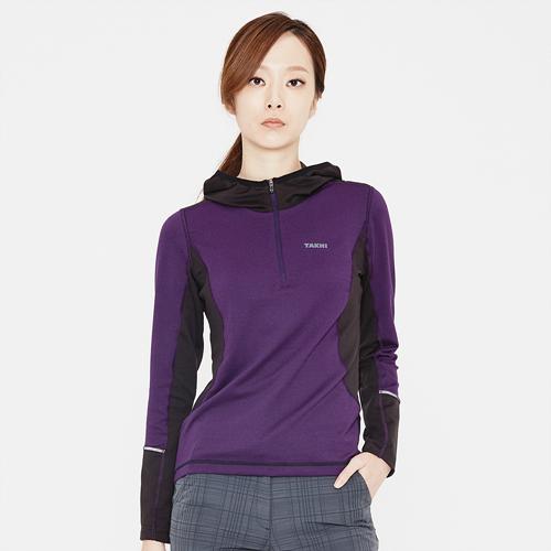 여성 큐도스 후디드 티셔츠 바이올렛