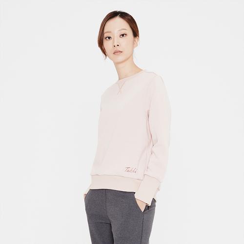 여성 플럭스 맨투맨 티셔츠 살몬