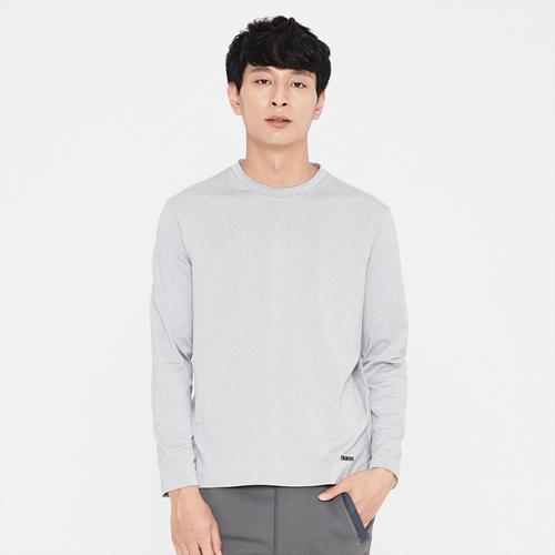 남성 로고 프린트 라운드 티셔츠 라이트그레이