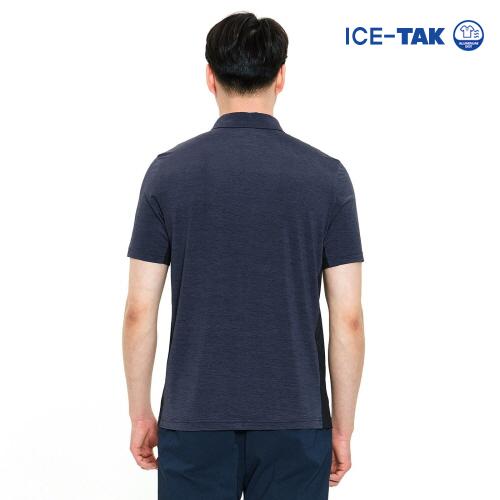 남성 아이스탁 맥스 폴로 티셔츠 다크네이비