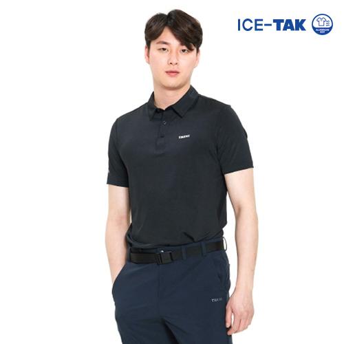 남성 아이스탁 맥스 폴로 티셔츠 블랙