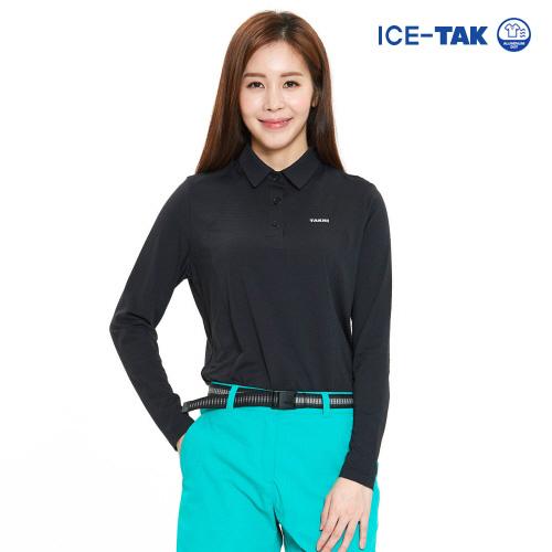 여성 아이스탁 제로 긴팔 티셔츠 블랙