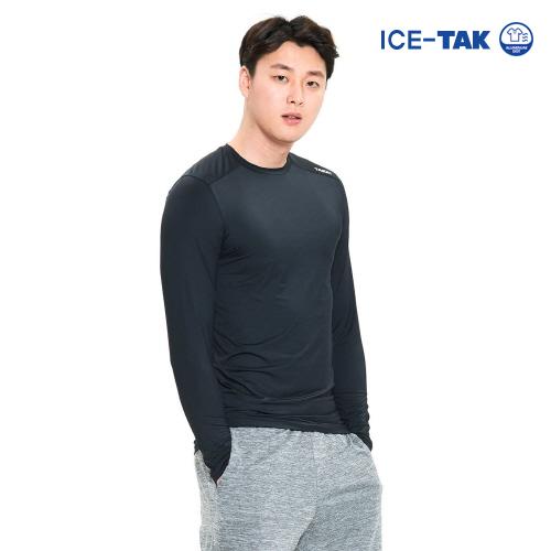 남성 유브이 클린 티셔츠 블랙