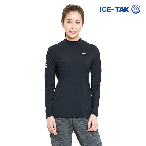 여성 유브이 어센트 티셔츠 블랙