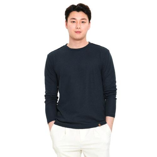남성 이온 라운드 티셔츠 차콜