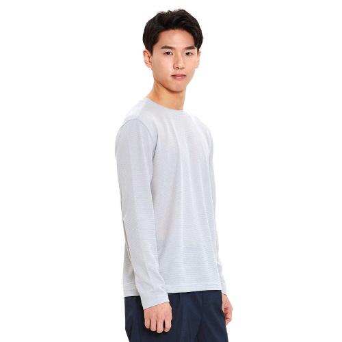 남성 이온 라운드 티셔츠 라이트그레이