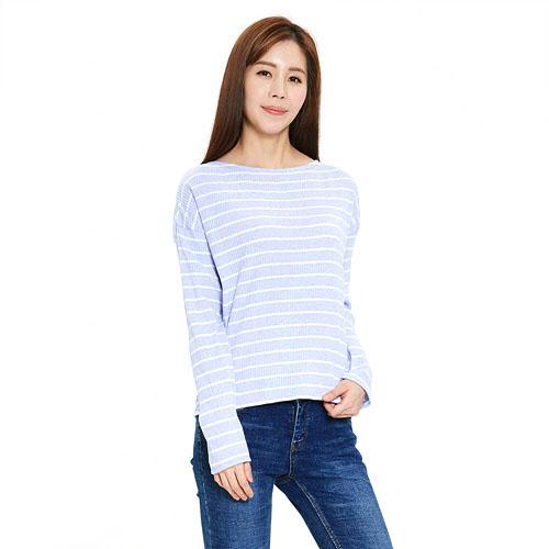 여성 이온 라운드 티셔츠 라일락