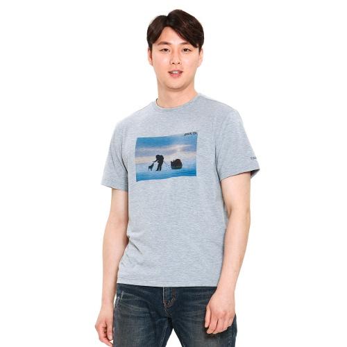 유니 리커버 티셔츠 멜란지 그레이