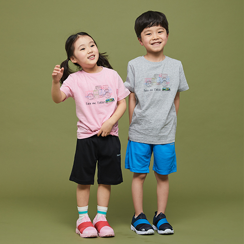 키즈 스탬프 티셔츠 블루