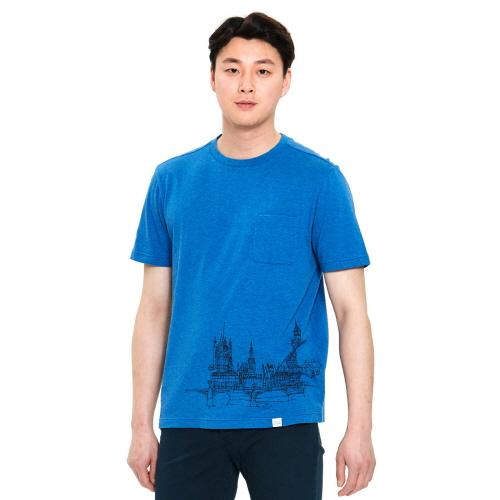 남성 랜드마크 티셔츠 베이지
