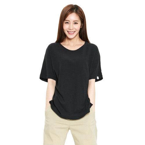 여성 릴렉스 티셔츠 블랙