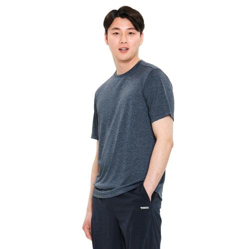 남성 리커버 그래픽 티셔츠 차콜