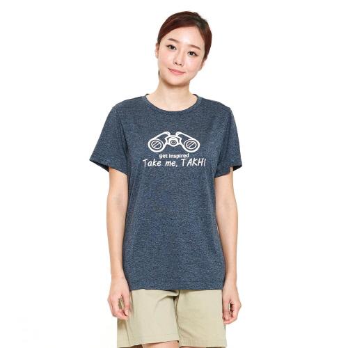 여성 리커버 그래픽 티셔츠 차콜
