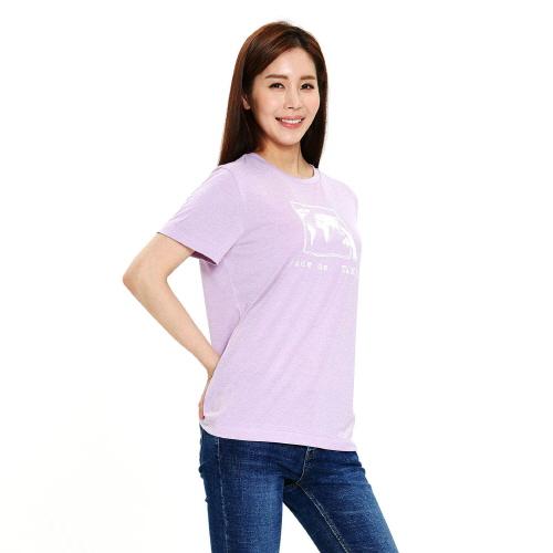 여성 리커버 그래픽 티셔츠 라벤더