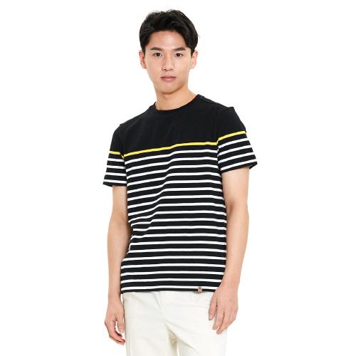 남성 크루즈 스트라이프 티셔츠 블랙