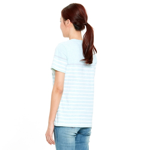 여성 크루즈 스트라이프 티셔츠 민트