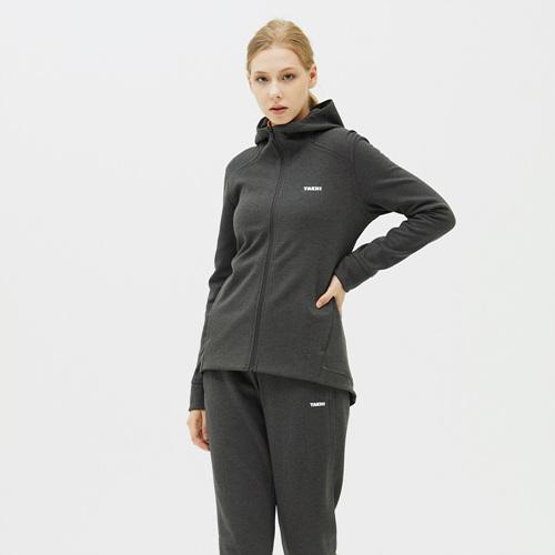 여성 볼트 스웨트 자켓 챠콜