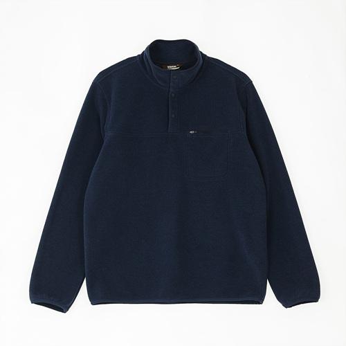 남성 스너그 스냅 티셔츠 블루나이트