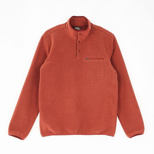 남성 스너그 스냅 티셔츠 다크오렌지