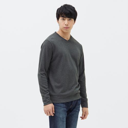 남성 크레이브 브이넥 티셔츠 차콜
