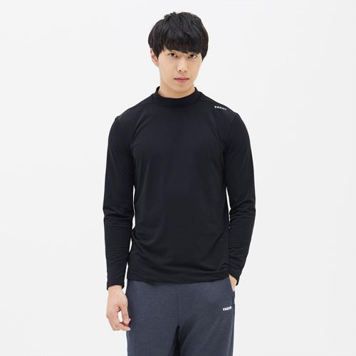 남성 엔비 넥슬리브 티셔츠 블랙