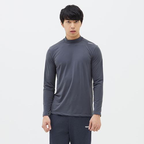 남성 엔비 넥슬리브 티셔츠 차콜