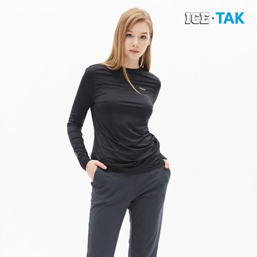 여성 유브이 프리즈 롱 티셔츠
